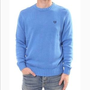 Chaps Sweater Crew Neck Blue Size S
